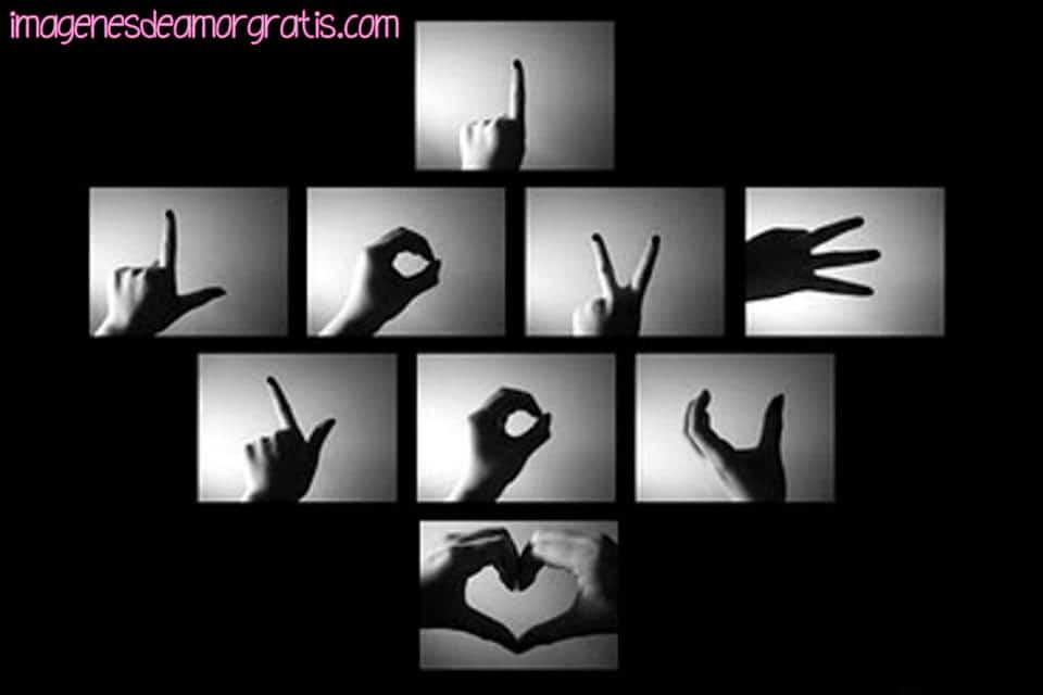 Imágenes De Te Amo En Lenguaje De Señas